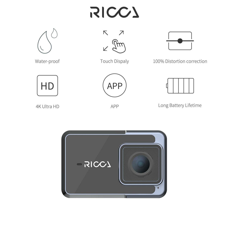 Máy quay hành động Ricca 4K - Hàng Chính Hãng