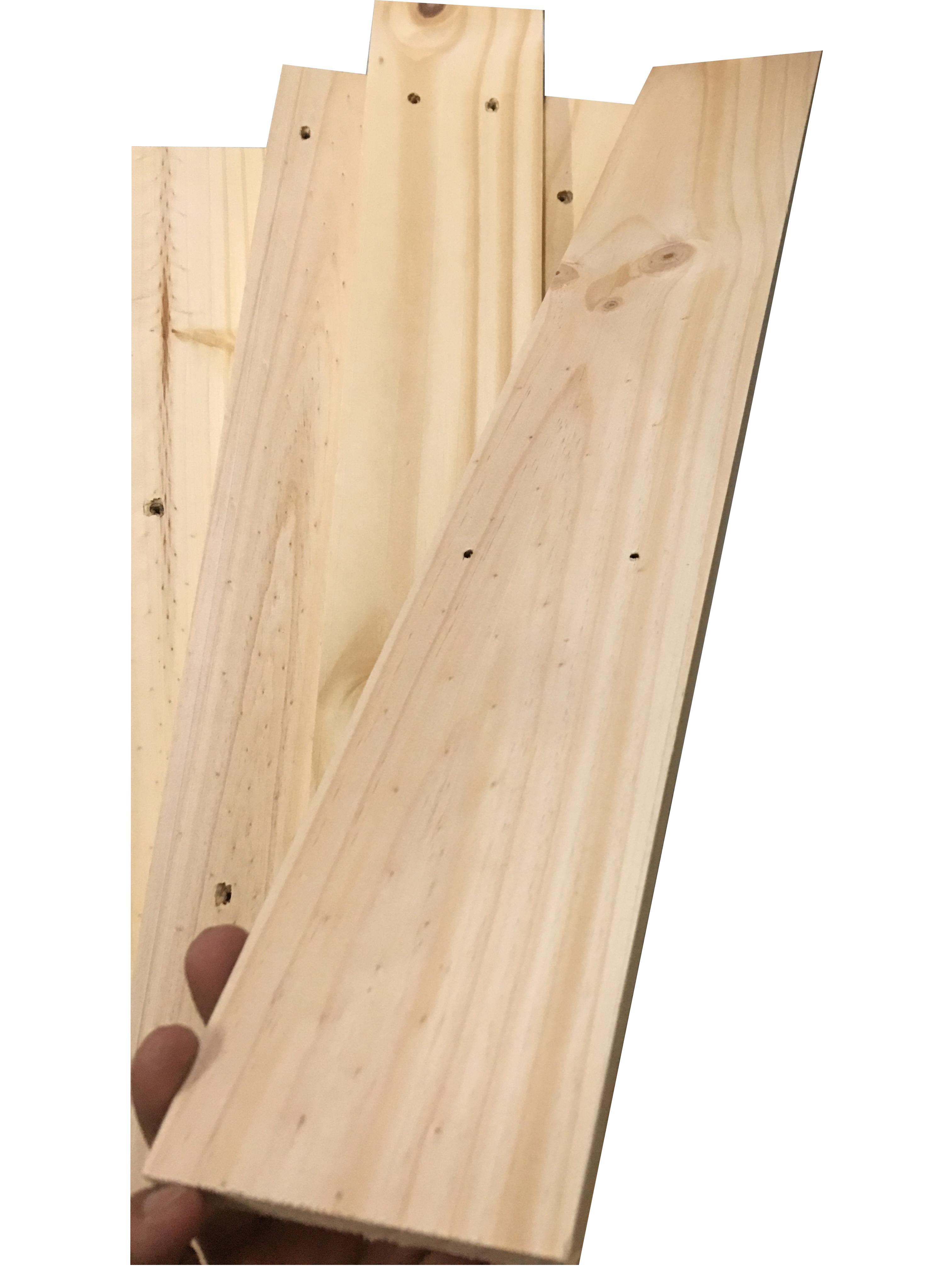 Bó 5 thanh gỗ thông pallet dài 60cm, rộng 9cm, dày 1.3cm bào láng 4 mặt dùng trang trí, đóng kệ, chậu hoa, DIY