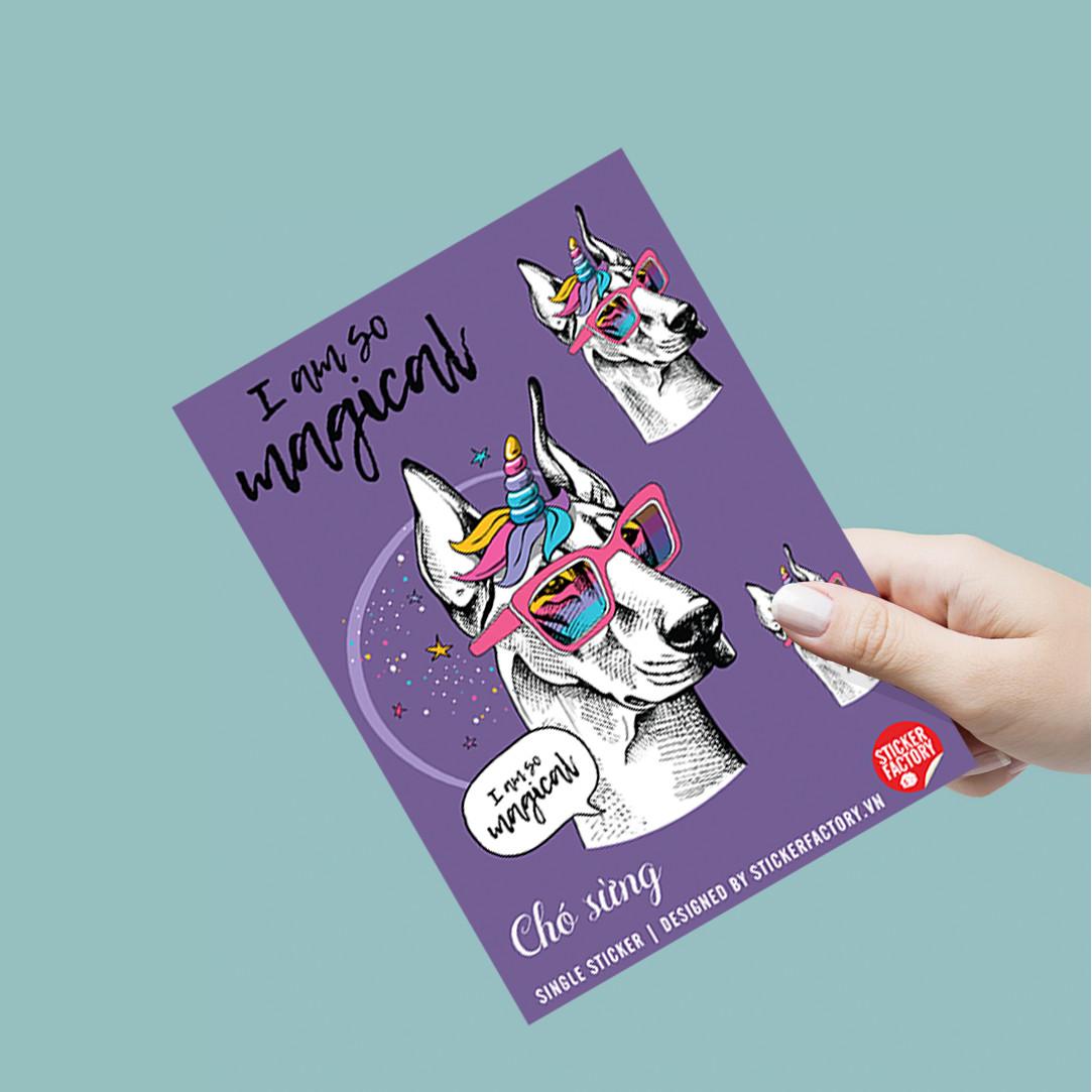 Chó Sừng - Single Sticker hình dán lẻ