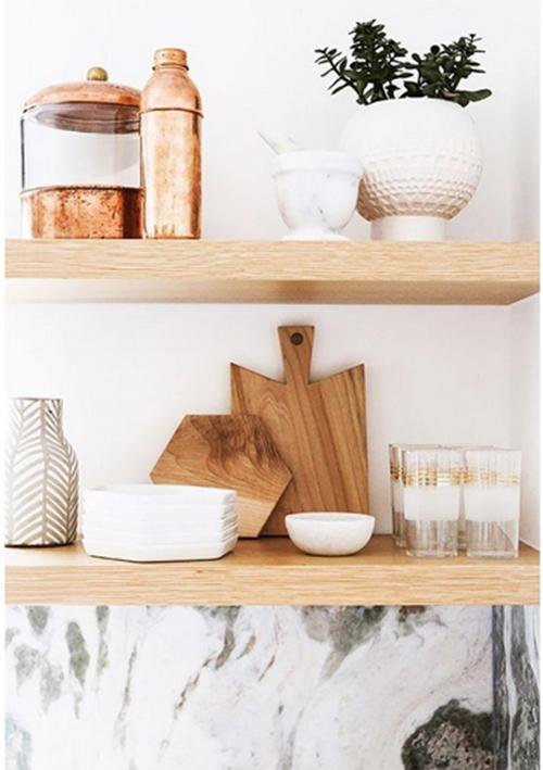 Kệ gỗ thanh ngang gắn tường 40x15cm/ Giá đỡ giấu chân bằng gỗ tự nhiên trang trí phòng bếp, phòng khách decor