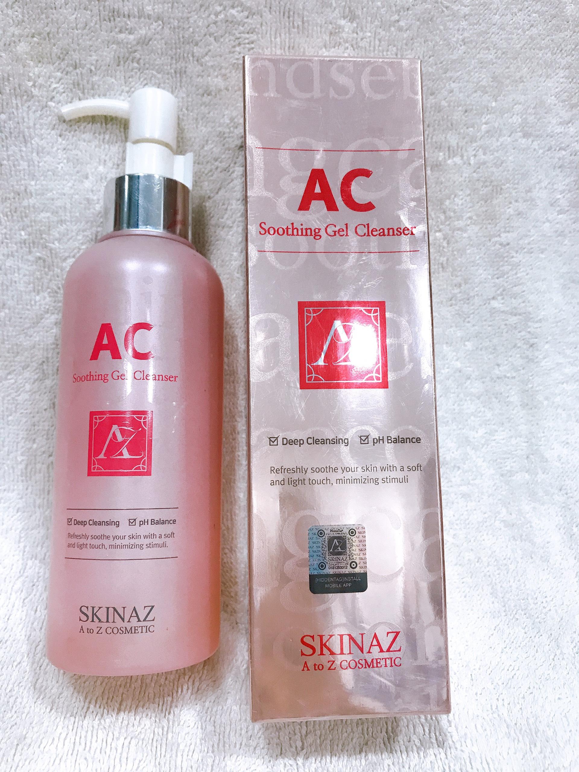 Sửa Rửa Mặt AC Skinaz Hàn Quốc mẫu 2020-180ml