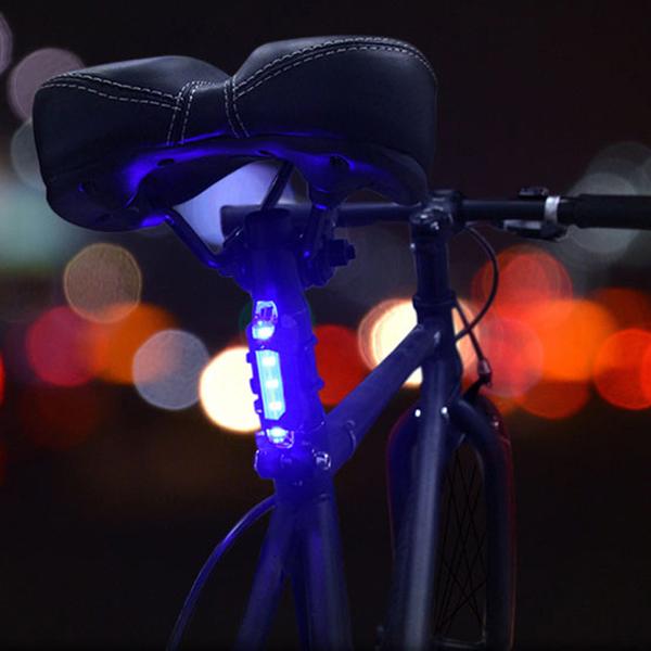 Bộ 2 Đèn Hậu LED Cảnh Báo Gắn Phía Sau Xe Đạp Giúp Đạp Xe An Toàn Ban Đêm 4 chế độ sáng (Đèn Đỏ và Xanh) Mai Lee - Hàng chính hãng