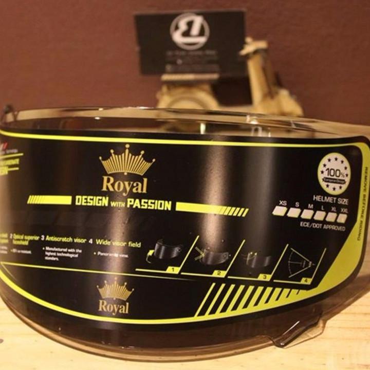 Kính Trà Lắp Cho Mũ Bảo hiểm FullFace Royal M136