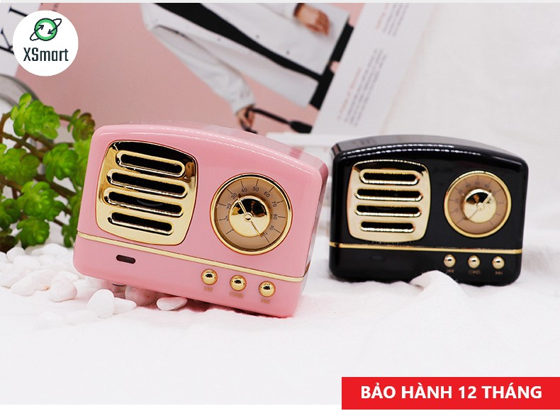 Loa Bluetooth Không Dây Mini Siêu Độc Lạ XSmart Retro Bass HM11 Nâng Cấp Âm Thanh Cực Hay Kiểu Dáng Cổ Điển - Hàng Chính Hãng