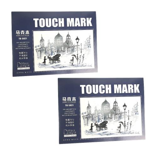 Combo 2 Sổ vẽ, viết Touch Mark chuyên dụng dành cho mỹ thuật dùng để vẽ màu nước, chì, màu bộ kích thước a5, 100% bột giấy ECF