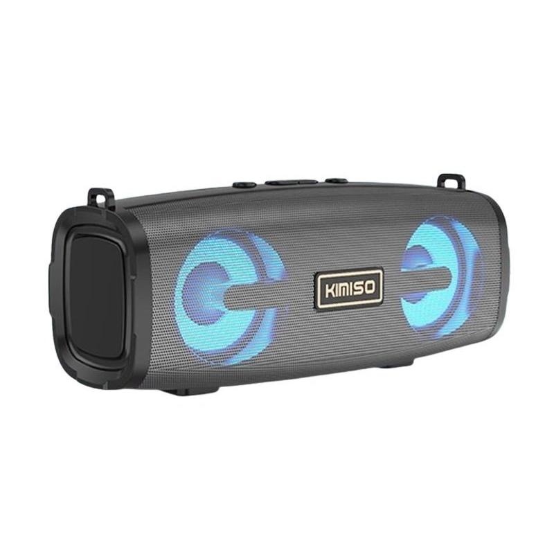 Loa bluetooth KIMISO KMS-223 stereo hỗ trợ nghe USB, thẻ nhớ, đài FM, cổng AUX, bass mạnh, có led (màu ngẫu nhiên) HÀNG NHẬP KHẨU