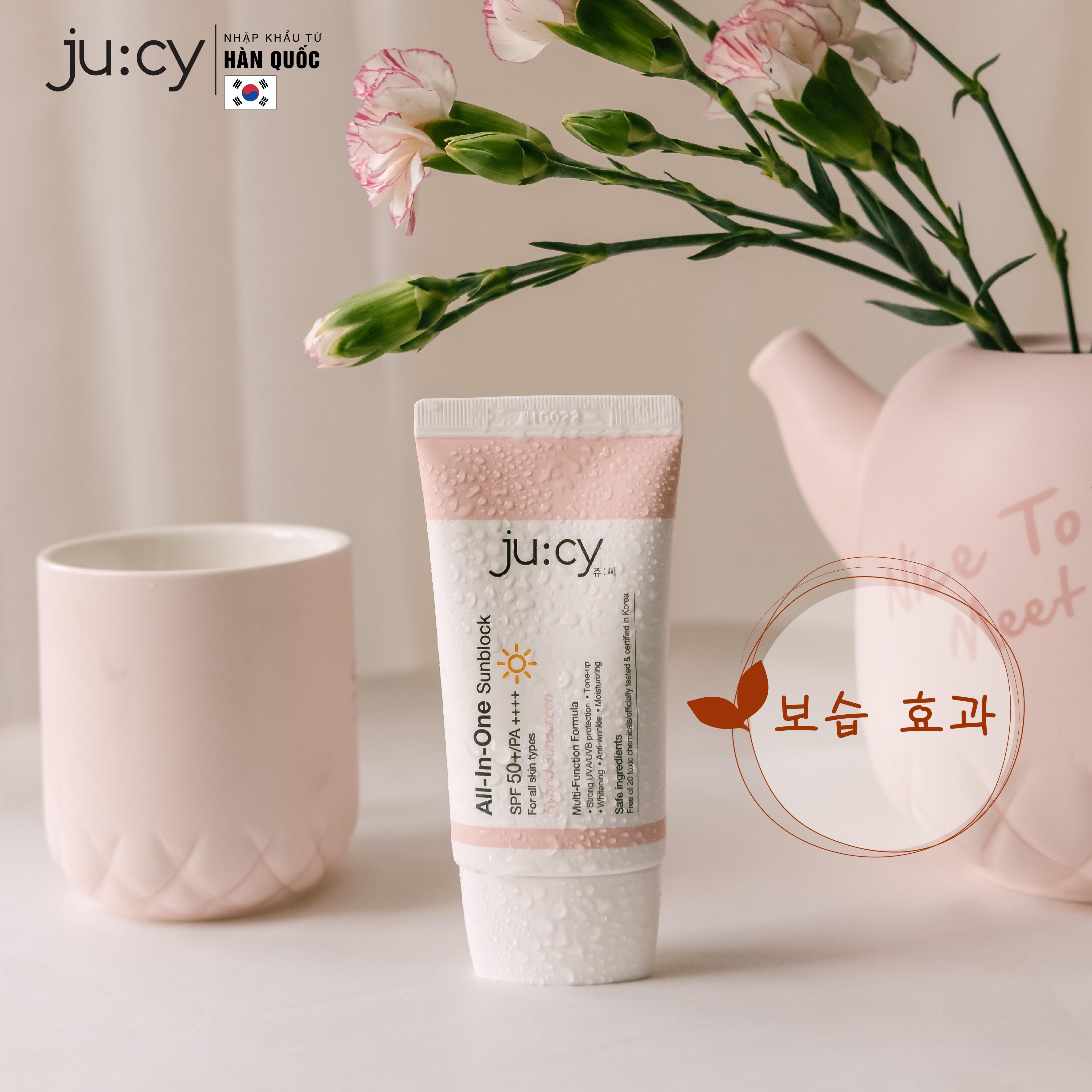 Kem chống nắng nâng tông kiềm dầu Hàn Quốc Ju:cy All-In-One Sunblock