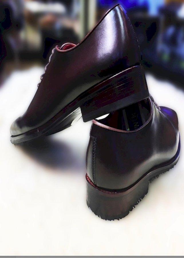 Giày tây nam da ý đánh Patina siêu mềm màu nâu