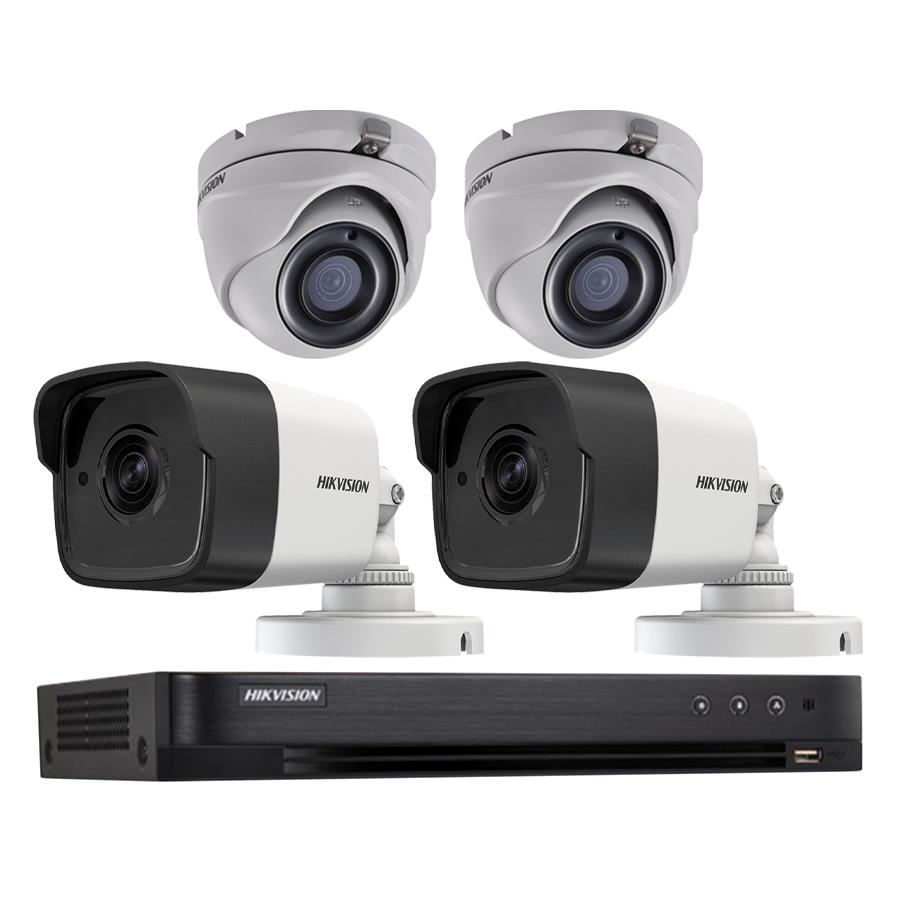 Trọn bộ 4 Camera giám sát HIKVISION TVI 5 Megapixel DS-2CE56H1T-ITM FULL 4K - Hàng chính hãng