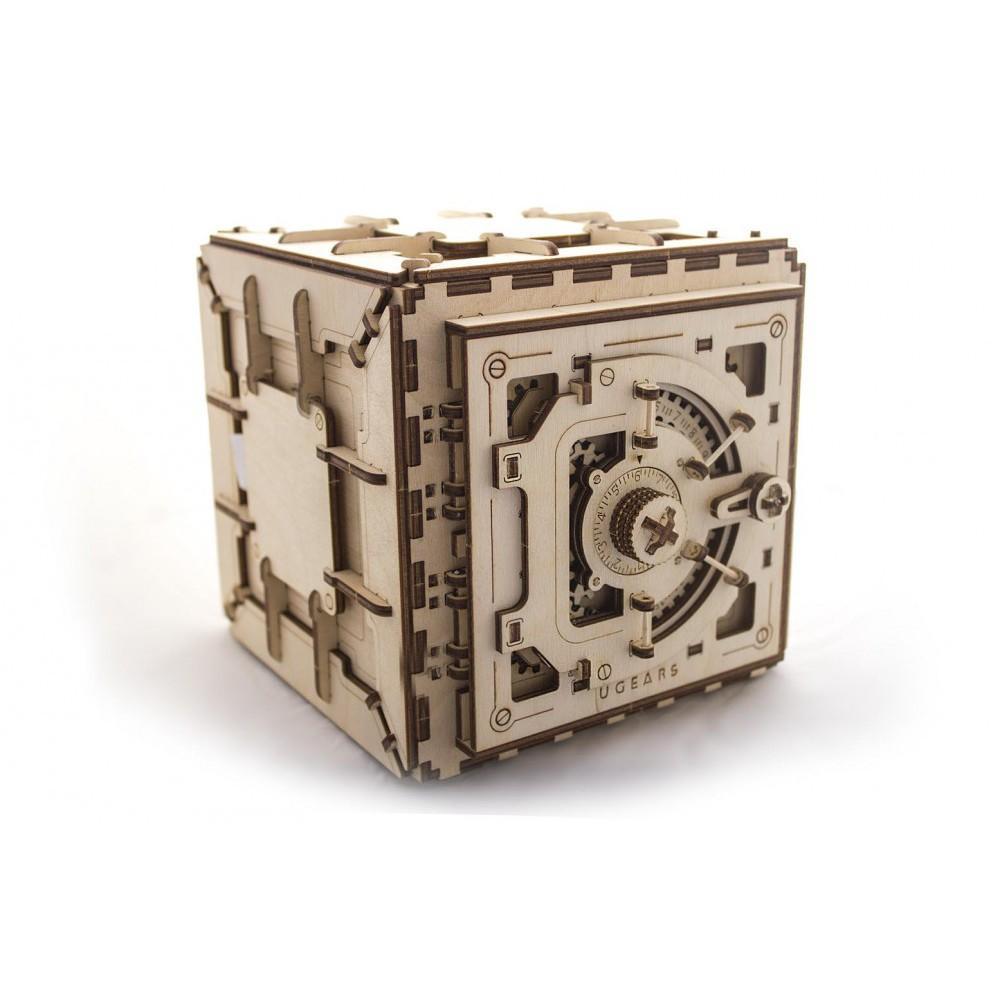 Mô Hình Gỗ Cơ Khí - Ugears Safe - Két sắt, sản phẩm chính hãng Ugears, nhập khẩu nguyên bộ từ EU, mô hình lắp ráp 3D, DYI