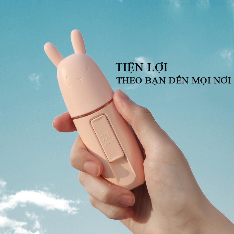 Máy phun tinh dầu mini cầm tay nhỏ gọn, xinh xắn, chú thỏ đáng yêu màu hồng dễ thương