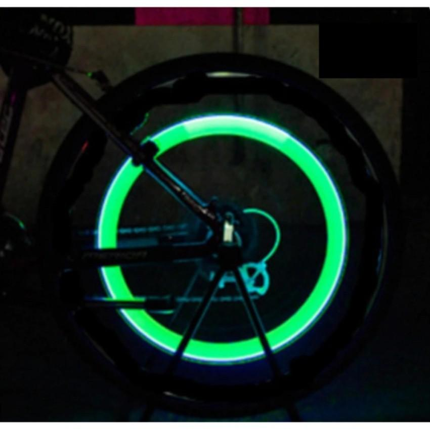 Hình ảnh Bộ 2 đèn LED gắn van bánh xe đạp, xe máy, ô tô