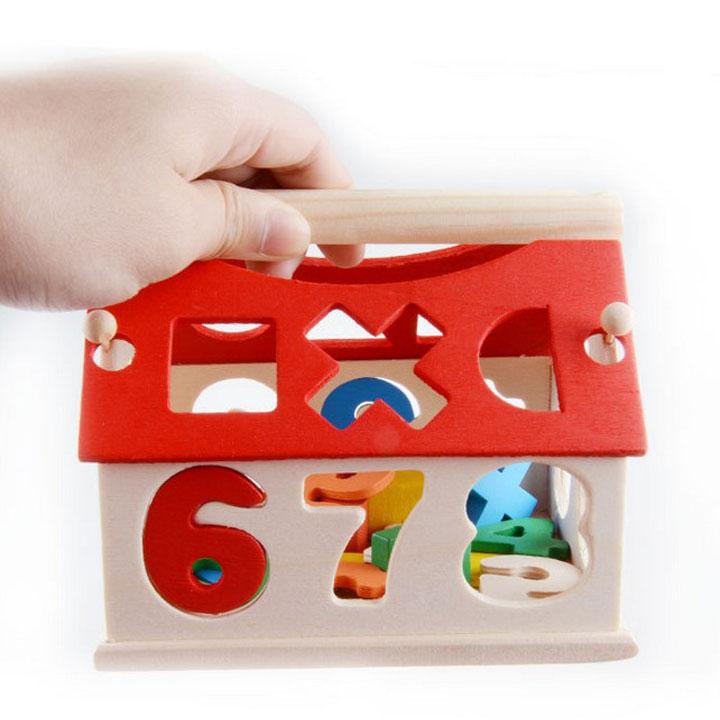 Ngôi nhà thả hình khối đồ chơi giáo dục
