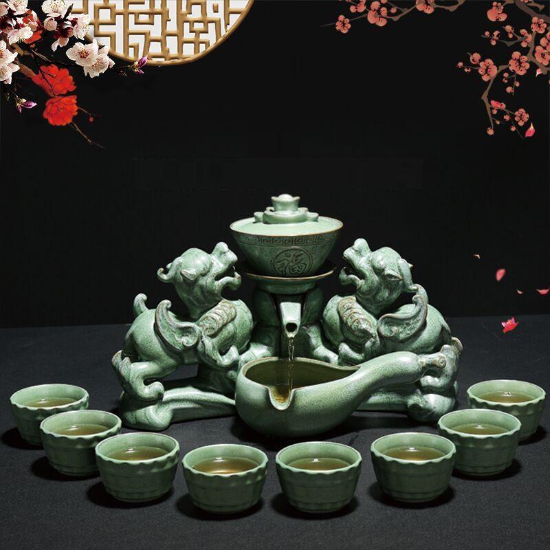 Bộ Bình Trà Tỳ Hưu Phong Thủy - Tỳ Hưu Tụ Tài PX7979