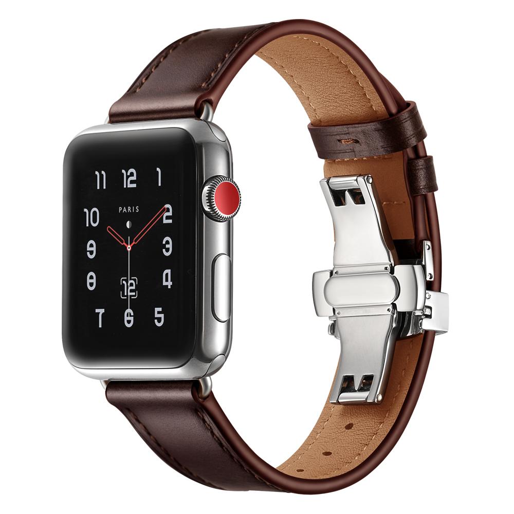 Dây Da Khóa Bướm Chống Gãy Dành Cho Apple Watch 42/44mm
