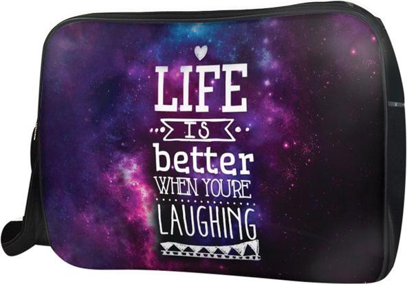 Túi Đeo Chéo Hộp Unisex Life Is Better - TCTE009 34 x 9 x 25 cm