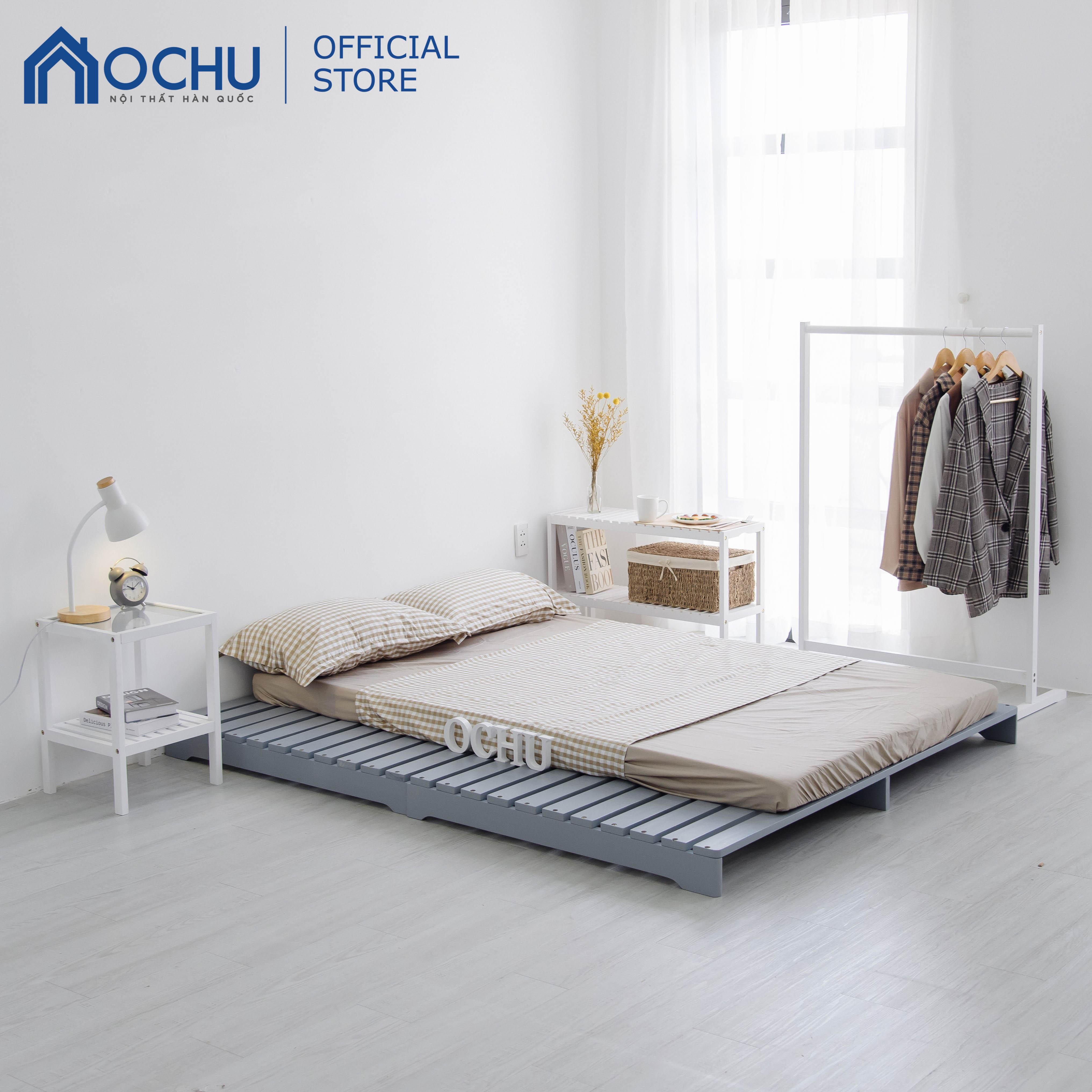 Giường Ngủ Pallet Gỗ Thông OCHU - Pallet Bed - Grey