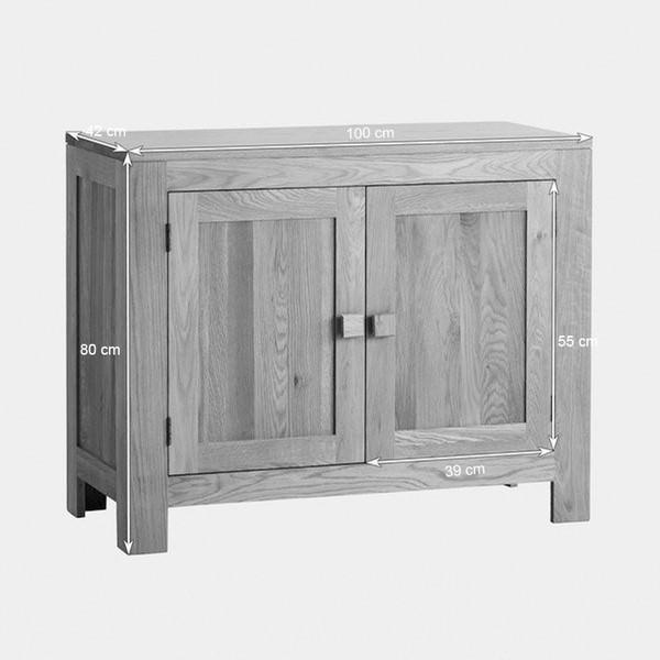 Tủ Chén Thấp Oakdale Nhỏ Gỗ Sồi Ibie DSCSSDALO (100 x 42 cm)