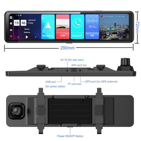 Camera hành trình xe hơi gương PHISUNG Z70, RAM 2GB