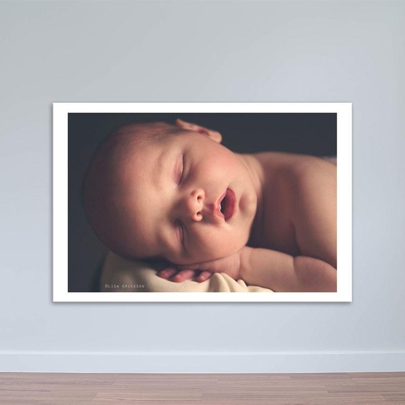 Tranh trẻ em đáng yêu | Tranh em bé chiều hoàng hôn W1942