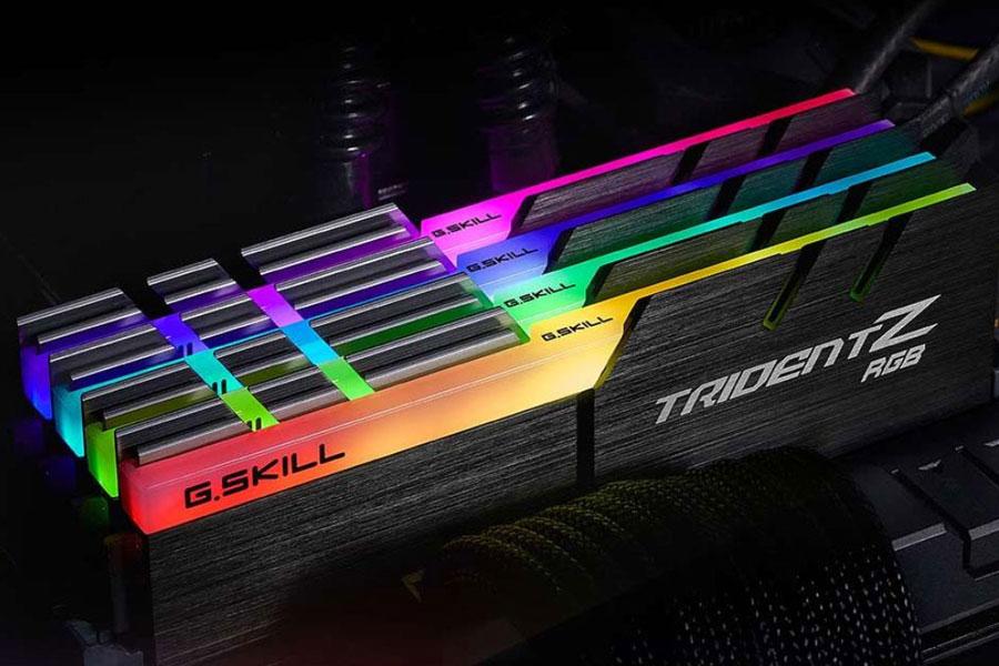 Bộ 2 Thanh RAM PC G.Skill F4-3000C16D-16GTZR Trident Z RGB 8GB DDR4 3000MHz UDIMM XMP - Hàng Chính Hãng