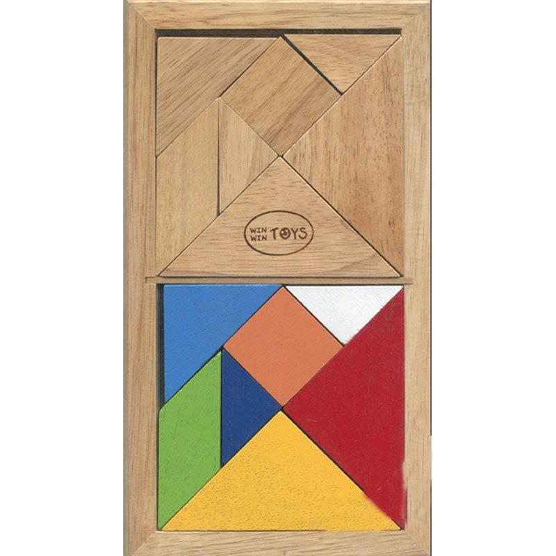 Đồ chơi gỗ winwintoys Tangram đôi ( có sách hướng dẫn)