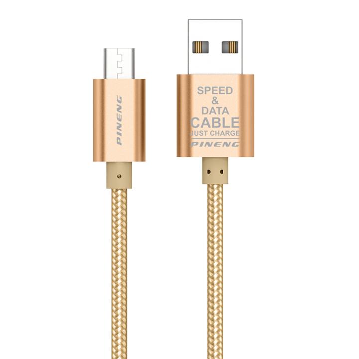 Cáp Sạc Dùng Cho Điện Thoại Micro USB Pineng PN -306 (1.5m) - Hàng chính hãng