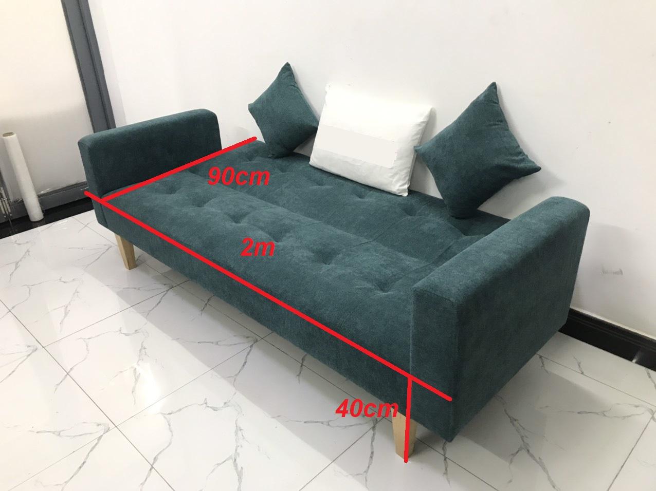 Ghế dài 2mx90 sofa bed tay vịn phòng khách sopha salon linco09
