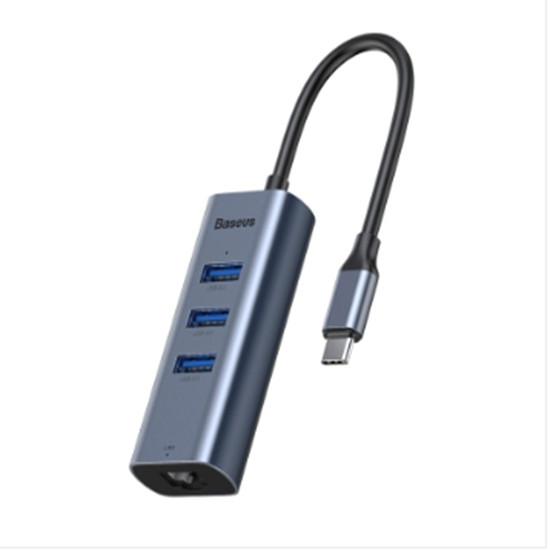Bộ Chuyển Đổi Baseus CAHUBM0G HUB Cổng USBC / TypeC sang USB 3.0 x 3 - Hàng Chính Hãng