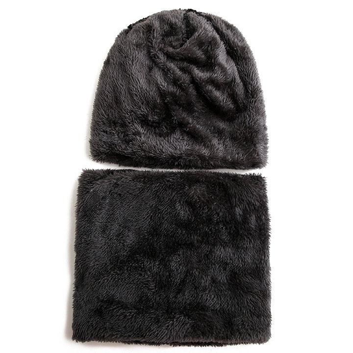 Mũ len kèm khăn cổ màu nâu cho bé từ 6 đến 15 tuổi