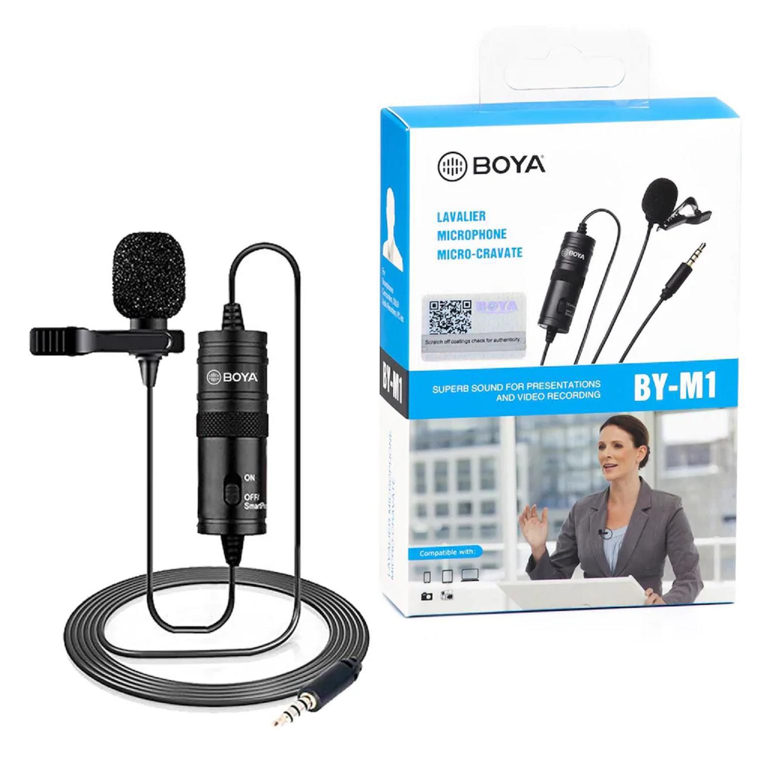 Boya By-M1 mic thu âm cao cấp cho điện thoại, camera, máy tính