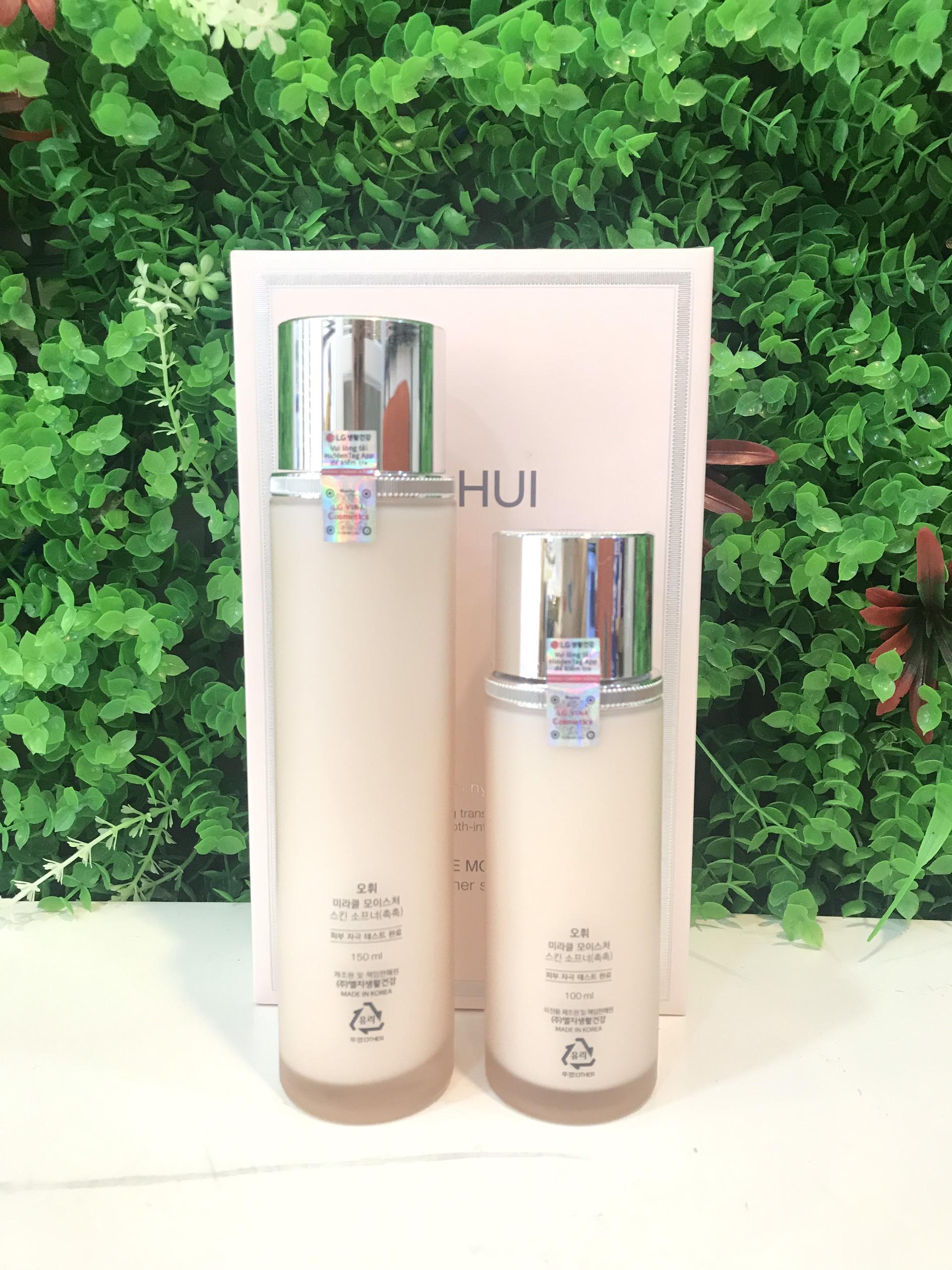 Bộ nước cân bằng OHUI Miracle Moisture Skin Softener Special Set