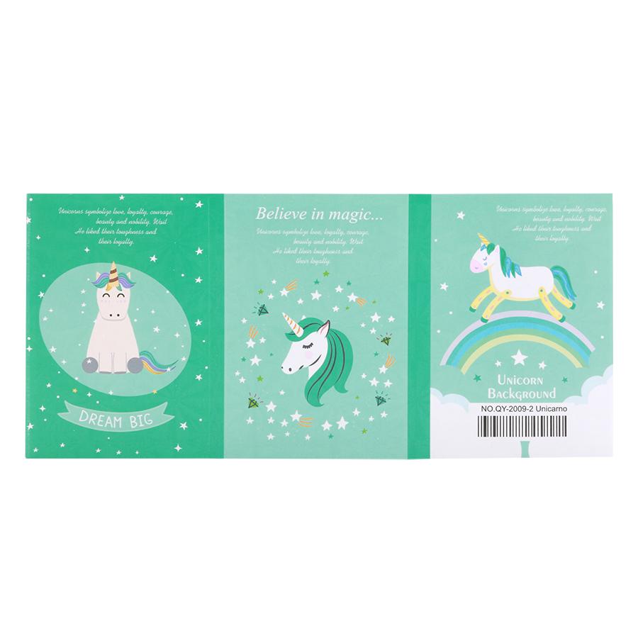 Sổ Giấy Sticky Note Unicorns Kỳ Lân (6 Xấp)