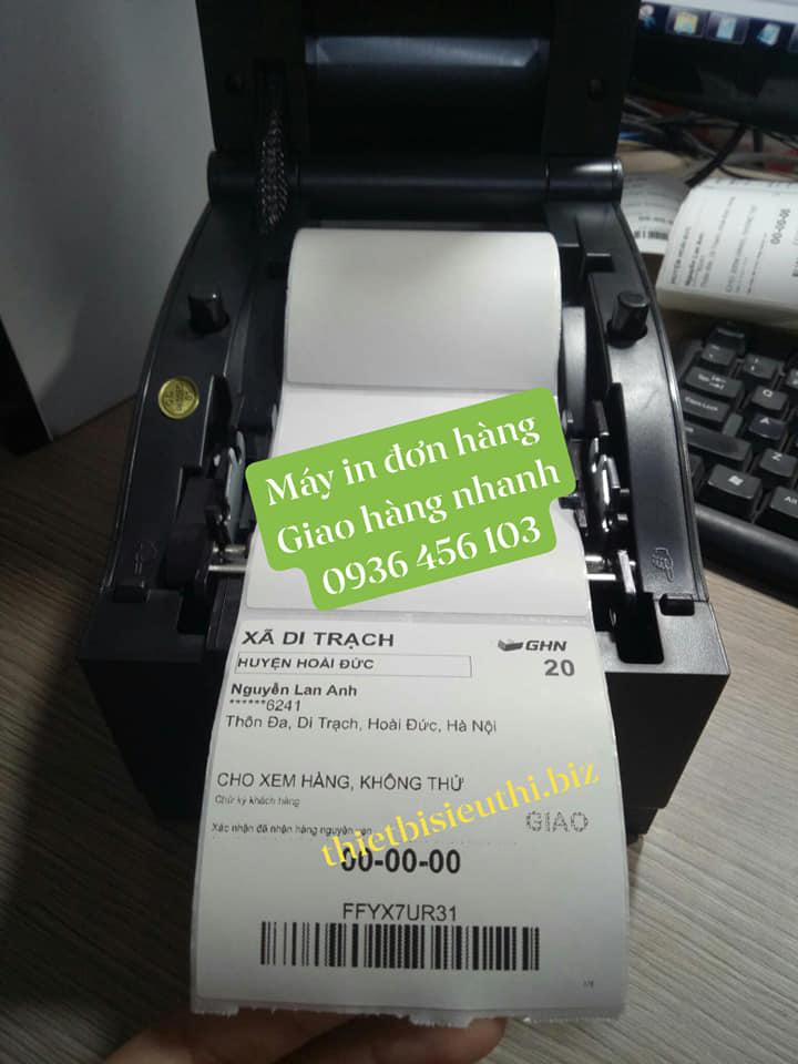Giấy in tem đơn hàng vận chuyển 80*80mm