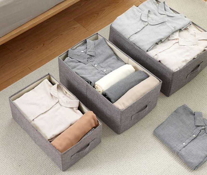 Combo 3 Hộp Vải Đựng Đồ Đa Năng TD2 – Túi Vải Thụy Điển Không Nắp Bộ 3 Chiếc Sang Trọng, Đẳng Cấp miDoctor