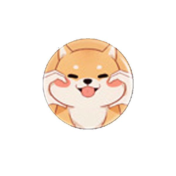 Miếng dán điện thoại shiba cute