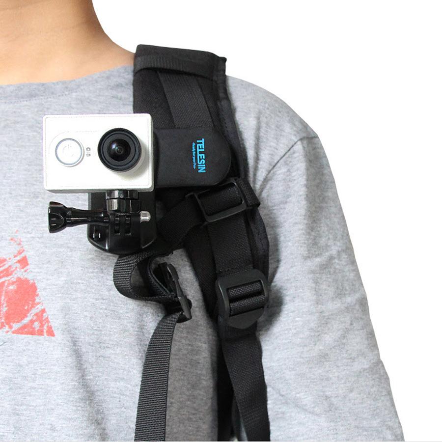 Combo Kẹp Dây Balo + Mount Chuyển Ren Gắn Cho Xiaomi Yi, HTC Telesin Gắn Cho Camera Gopro 6