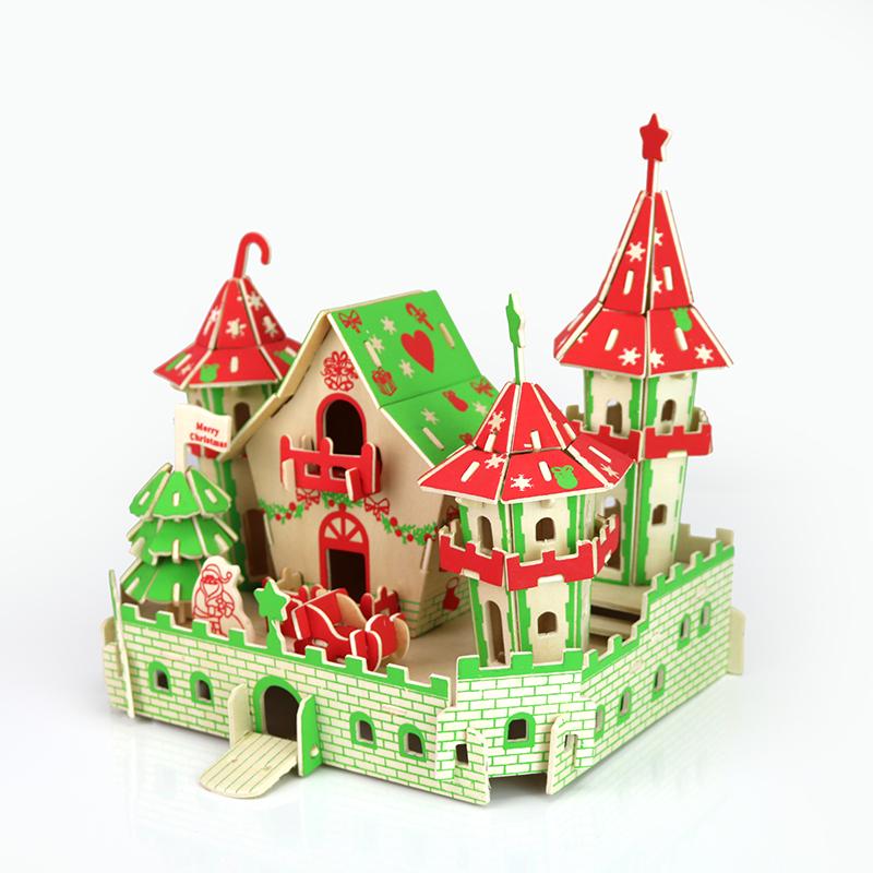 Đồ chơi lắp ráp gỗ 3D Mô hình Lâu đài Giáng Sinh