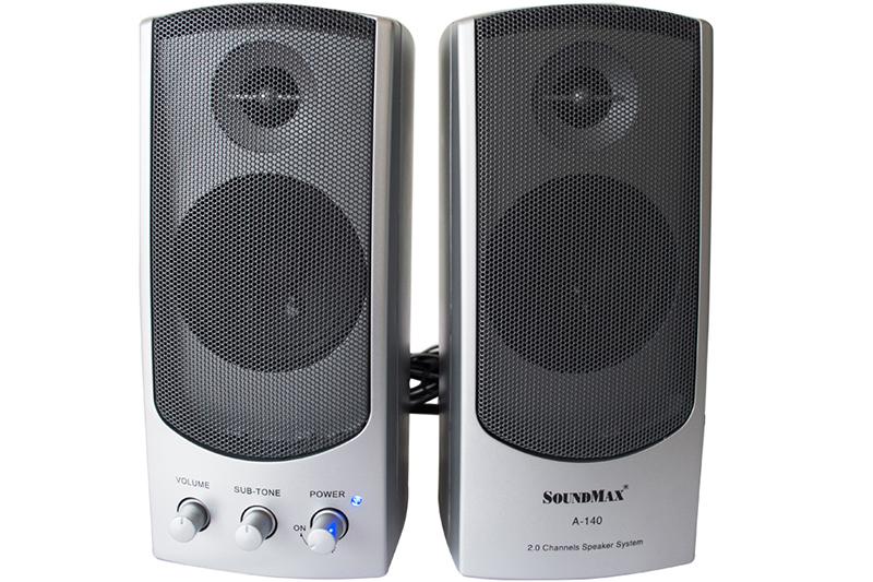 Loa Soundmax A140 2.0 (Bạc) - Thiết kế nhỏ gọn, năng động - Hàng chính hãng