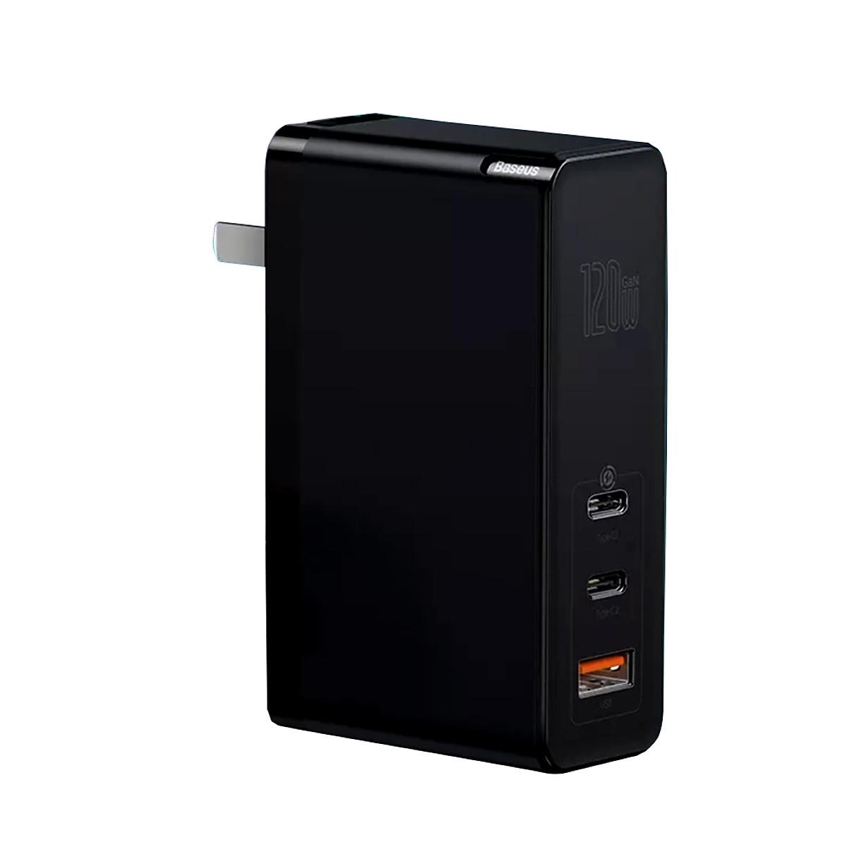 Adapter củ cóc sạc nhanh 120W đa năng1 cổng sạc USB và 2 PD 3.0 Type-C hiệu Baseus MiniGaN Gen 2 Pro công nghệ tản nhiệt BCT- Hàng nhập khẩu