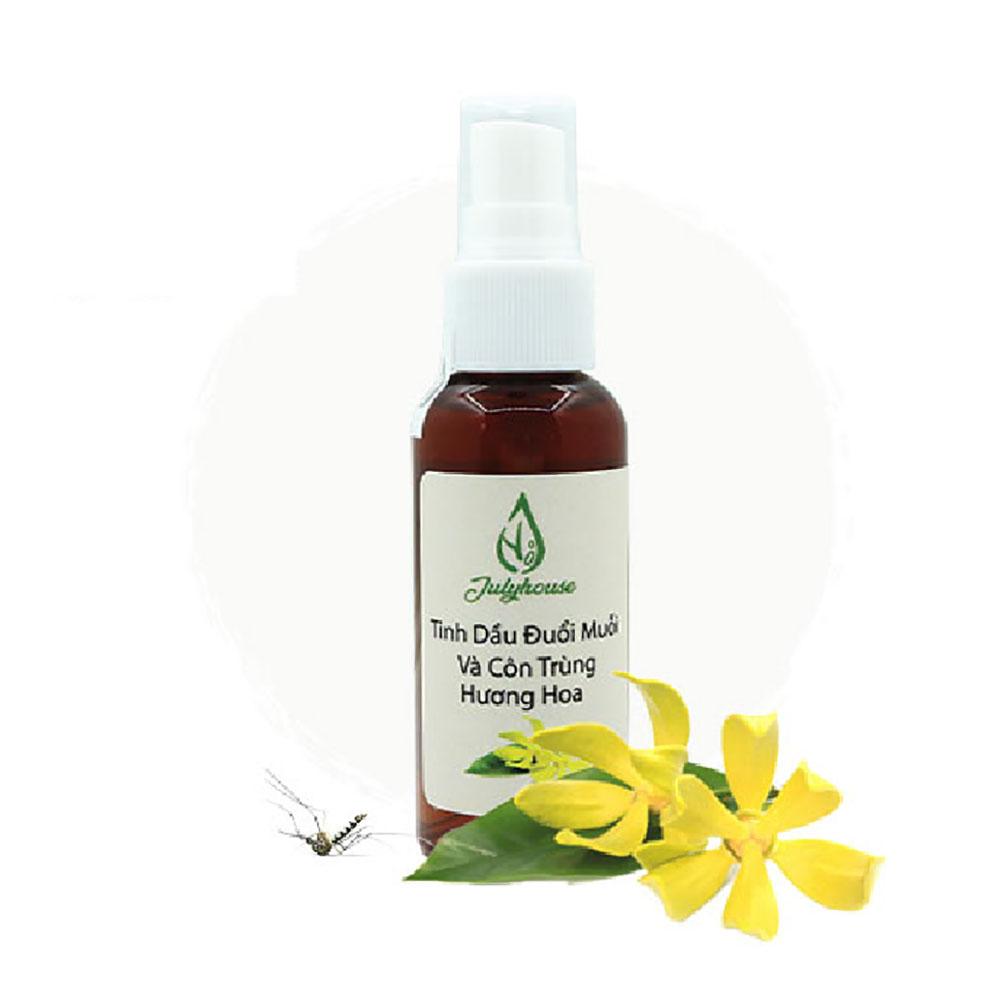 Bình xịt đuổi muỗi và côn trùng tinh dầu hương hoa 50ml JULYHOUSE