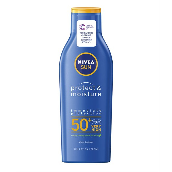 Kem chống nắng, chống nước Nivea Sun Protect & Moisture SPF 50+ Very High - 200ml
