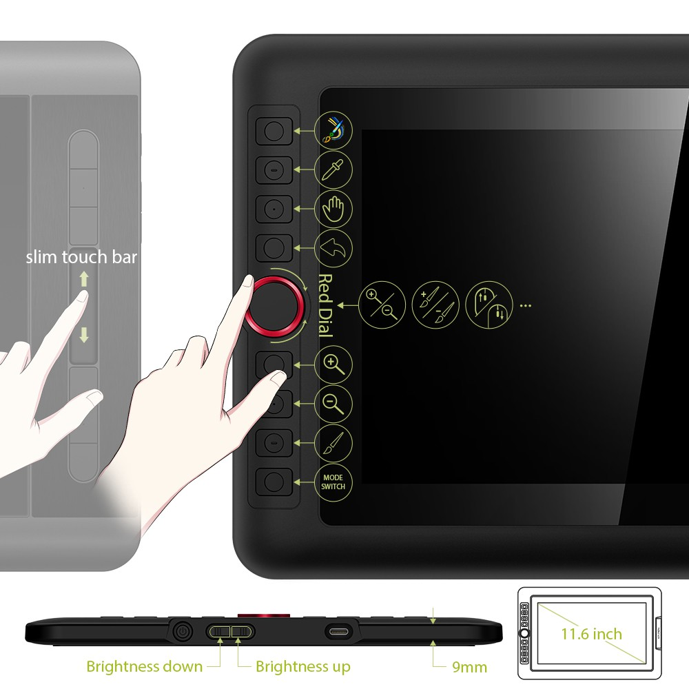Bảng Vẽ Màn Hình XP-Pen Artist 12 Pro fullHD Lực Nhấn 8192 Hỗ Trợ Cảm Ứng Nghiêng - Hàng Chính Hãng