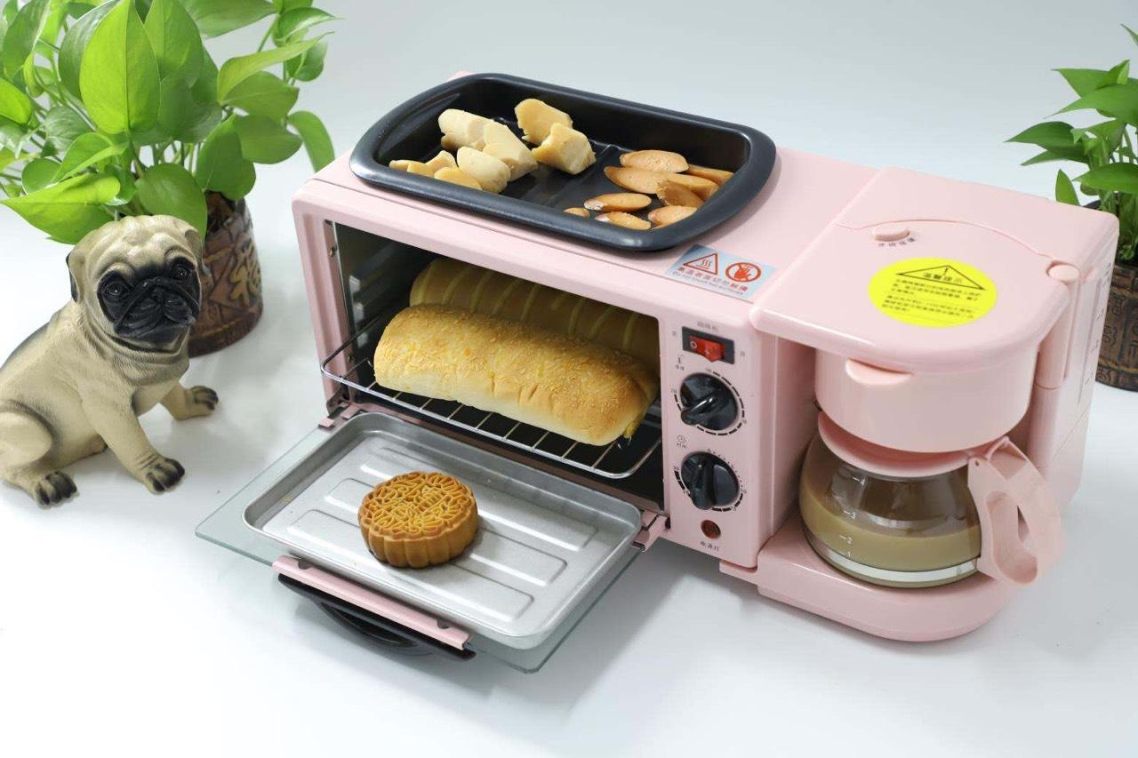 Lò nướng 10 Lít 3 trong 1 kèm ấm đun nước, pha trà, pha cà phê và chảo rán tiện lợi