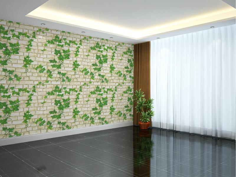 5M Giấy Dán Tường - Decal dán tường - Dây Leo Xanh