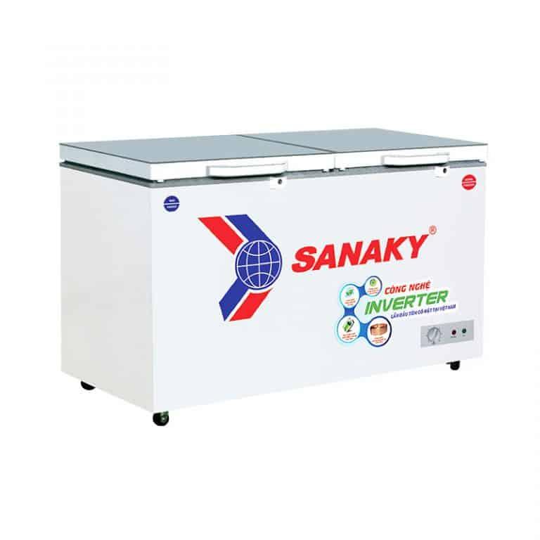 TỦ ĐÔNG INVERTER SANAKY 305 LÍT VH-4099A4KD ĐỒNG (R600A) (KÍNH CƯỜNG LỰC) - HÀNG CHÍNH HÃNG