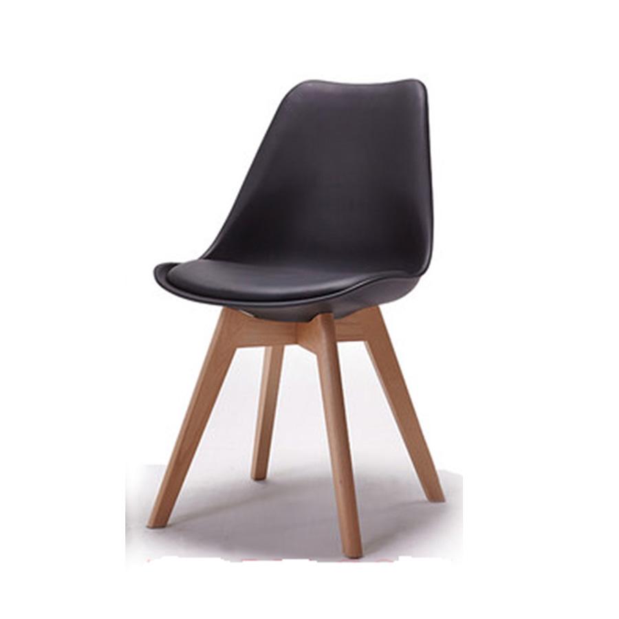 Ghế Eames chân lớn mặt nhựa lót nệm
