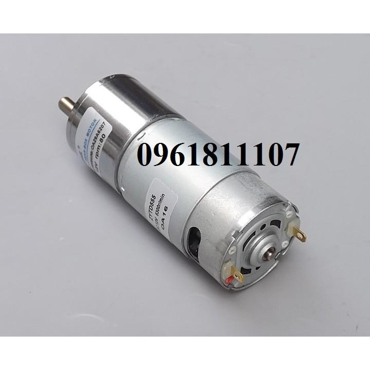 Motor giảm tốc 12V 555 80 vòng.phút 24V 120rpm