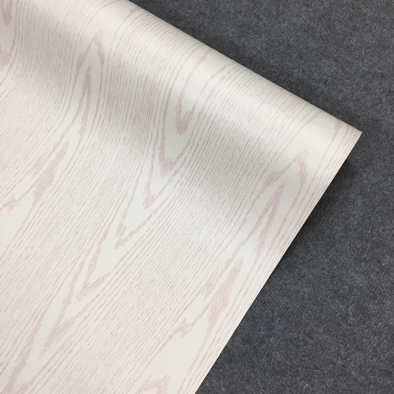 Decal vân gỗ trắng - Giấy dán tường bàn tủ có sẵn keo ( khổ 1,2m - Mẫu G1 )