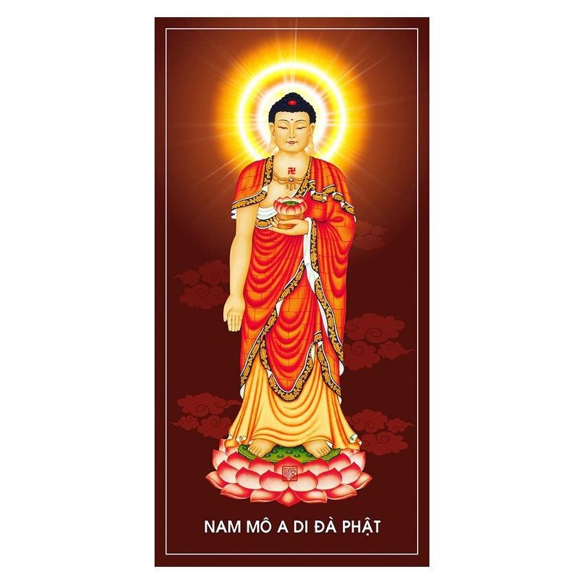 Tranh Phật Giáo Phật Adida 3058 (30 x 60 cm)